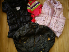 NICE 4x WINTER AUTUMN 100% NEXT BUNDLE GIRL JACKET GILETS HAT 7/8 YRS V.G.C (1.6