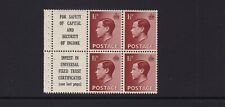 Gb Sg459a King Edward Viii 1.5d Red-Brown Booklet Pane Mnh Unmounted Mint