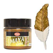 Maya Gold 45ml Bronze, Acrylfarbe mit Metallic Effekt für Holz Pappe Beton