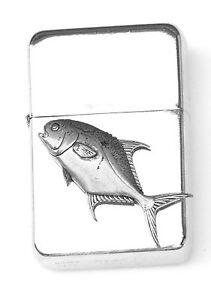 Permit Fish Emblem Windproof Petrol Lighter FREE ENGRAVING Personalised Gift 267