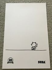 E3 SDCC Comic Con Sonic The Hedgehog 20th Anniversary Retro Poster RARE
