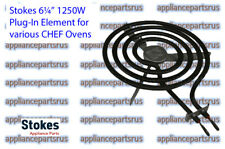 "Stokes 6 1/4"" 1250W Stove Element to suit various Chef & Simpson Part 1803-10"