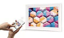 """Digitaler Bilderrahmen Framen Player 21,5"""" (55cm) weiß mit Smartphone-Steuerung"""