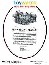 Vintage Pennsbury Manor - Monte Paper Model from Toywares