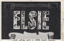 Name large letters ELSIE canceled 1907 4842