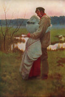 WILLIAM HENRY GORE 1885 Oil Painting LISTED Vintage Artwork 1930 Book Print