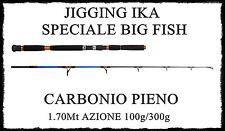 canna jigging ika 1.70m azione 100/300g vertical ricciola siluro tonno dentice