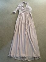 NUDE FLOATY MAXI DRESS BEADED BNWT 14 JANE NORMAN TOWIE CELEB SUMMER PRETTY £75