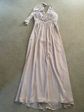 NUDE FLOATY MAXI DRESS BEADED BNWT 14 JANE NORMAN TOWIE CELEB SUMMER PRETTY CUTE