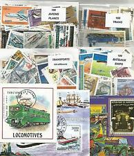 """Lot 400 timbres thematique """"Transports"""""""