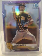 2021 Bowman Chrome Yu Darvish Purple Refractor #005/250!! Padres !!