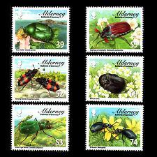 """Alderney 2013 - Fauna """"Alderney Beetles"""" Insects - Sc 459/64 MNH"""