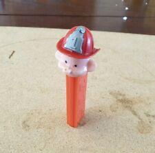 More details for vintage fireman pez dispenser no feet missing moustache