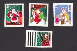 Christmas Santa Claus Bonhomme Sinterklaas = Canada 1991 #1339-1342 MNH