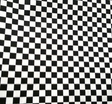 """Black and White Small Checkered Fabric Poly cotton 60"""" 50s Party Racing Flag BTY"""