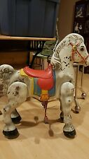 VINTAGE Original 1940's MOBO Bronco Pedal Horse Pressed Steel Riding Horse