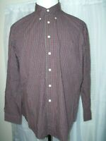 MEN'S BROOKS BROTHERS 346 BUTTON SHIRT STRIPED L LARGE LONG SLEEVED