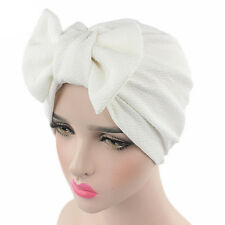 Women Bowknot Bonnet Chemo Hijab Turban Cap Beanie Hat Head Scarf Wrap