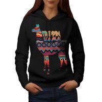 STITCH & SOUL Damen Glitzer Sweatshirt mit Lama Stickerei