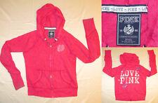 PINK by Victorias Secret zip-up hoodie sweatshirt - Womens Sz Small Graphic