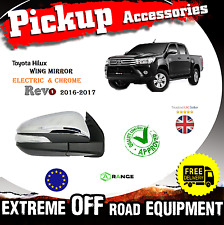 Toyota Revo Hilux Pick-Up 16-2017 Electric Wing Mirror Chrome O/S MK8 Driver M11