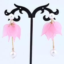 Fashion Fringe Long Tassel Flower Pearl Women Drop Dangle Earrings Jewelry Gifts