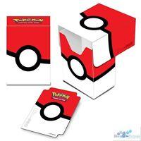 POKEMON POKEBALL RED WHITE ULTRA PRO DECK BOX CARD BOX FOR POKEMON CARDS V3 2016