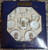 M.J. Hummel Reutter Porzellan Porcelain Miniature Tea Set NEW in Box