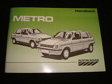 Austin Rover Metro usuario manual - DATED 1987 akm6088