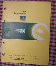 John Deere Operator's Manual 1418 Rotary Cutter OM-W38938 BRUSH HOG BUSH OWNERS