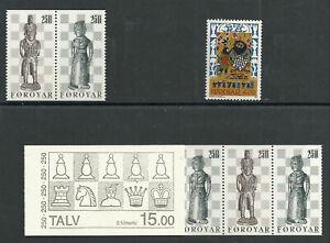 2819/Färöer 1983 82-83 MH 20, 1986 131 ** Schach Schachfiguren