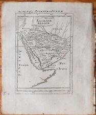 Mallet + Original Engraving Map Ancienne Arabie Arabia + 1719