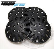 "Hubcap 15"" Inch Wheel Rim Skin Cover 4pcs Set Matte Black -Style 738 15 Inches-"