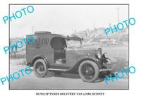 OLD 8x6 PHOTO OF DUNLOP TYRES DELIVERY TRUCK c1930 2