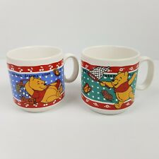 Winnie The Pooh Mugs x 2 Staffordshire Tableware Made in England Disney