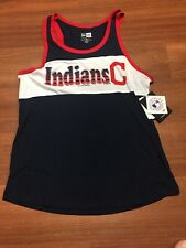Cleveland Indians New Era Ladies Racerback Jersey MLB Tank Top - Size S