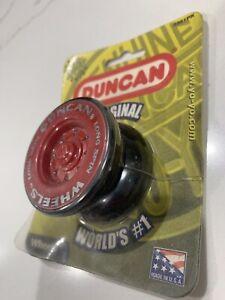 Duncan - WHEELS YO-YO ~ Yo Yo New Sealed In Package -USA - RED/BLACK