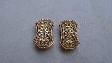 Victorian Beautiful 9K Gold Enamel Two Stud Buttons