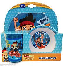 Jake e la Neverland Pirati 3 pezzi Stoviglie Set Regalo Per Ragazzi piatto ciotola bicchiere da