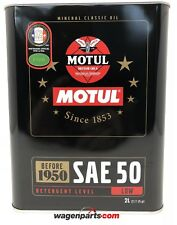Aceite Lubricante Motor Coches Clásicos 1950 Motul Classic Sae 50, 2 litros