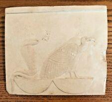 ANCIENT EGYPTIAN PLAQUE METROPOLITAN MUSEUM WADJET NEKHBET VULTURE COBRA REPRO.