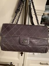 Chanel quilted kisslock Leather Tote handbag