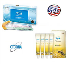 Atomy Toothbrush Gold Coated 8pcs + Propolis Green Tea Toothpaste 50g x 4pack