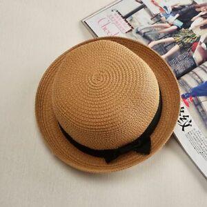 New Father-son Sun Hat Kids Cute Sun Hats Bow Girl Straw Women Cap Beach Big Hat