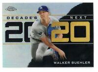2020 Topps Chrome Update Walker Buehler Decade's Next Insert #14 LA Dodgers