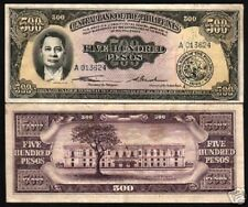 PHILIPPINES 500 PESOS P-141 1949 ROXAS FLAG RARE CURRENCY PHILIPINO BANK NOTE