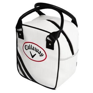 CALLAWAY PRACTICE CADDY GOLF BAG/ SHAG BAG - WHITE/BLACK - NEW