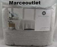 Hotel Collection Yarn Dyed 525 Thread Count Cotton FULL / QUEEN Duvet Ash Gray