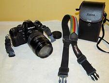 Vintage NIKON n2020 Film Camera w/Tamrac Strap & Sigma 75-200mm Zoom Lens J362