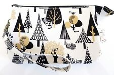 Black Cat tree wristlet double zip pouch/clutch/wallet/purse/strap/pencil case